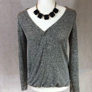Gray blousy top